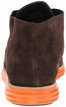 Cole Haan Men's Lunargrand Woodbury Brown Suede Orange Chukka Boot 11 US NIB image 5