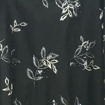 Nine West Skirt Plus Size 16 Black Floral Embellished  - $16.00