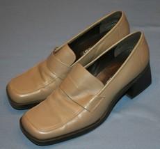 Nine West Donna Slip On Scarpe Tacchi Sz 8 o 8 1/2 Maggie Beige Punta Qu... - $31.97