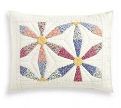 Martha Stewart Artisan Daisy Wheel Patchwork Quilted Standard Sham - $20.90