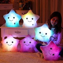 Wewill Creative Glowing LED Night Light Twinkle Star Shape Plush Pillow ... - $46.49