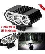 12000 Lm 3 x T6 LED Bicycle Lamp 3 Modes USB Rechargeable Bike Light Hea... - $23.71+