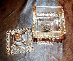 Heavy Cut Glass 2 Piece Chalice with Gold Accents AA18-11906Vintage image 3
