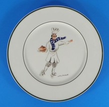 Williams Sonoma Guy Buffet SKATING CHEFS Dinner Plate Phillipe with Soup - $23.71