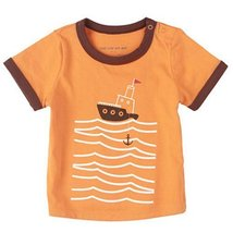 Ship Pure Cotton Infant Tee Baby Toddler T-Shirt ORANGE 80 CM (12-18M)