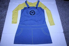 Women's Female Minion Despicable Me S (4/6) Halloween Costume Outfit (Ye... - $18.69