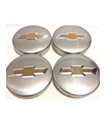 4 pcs, Wheel Emblem Center, Chevy, Silver, Fit Aveo Camaro Cruze Malibu ... - $22.99