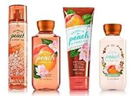4 Pc Bath & Body Works Georgia Peach Sweet Tea- Lotion, Mist, Shower Gel... - $30.99