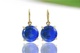 Lapis earrings,gold earrings,September birthstone earrings,dangle earrings - $89.00+