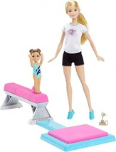 NEW! Girls Toy Gymnastics Dolls Barbie and Toddler Student Flippin Fun - $47.45