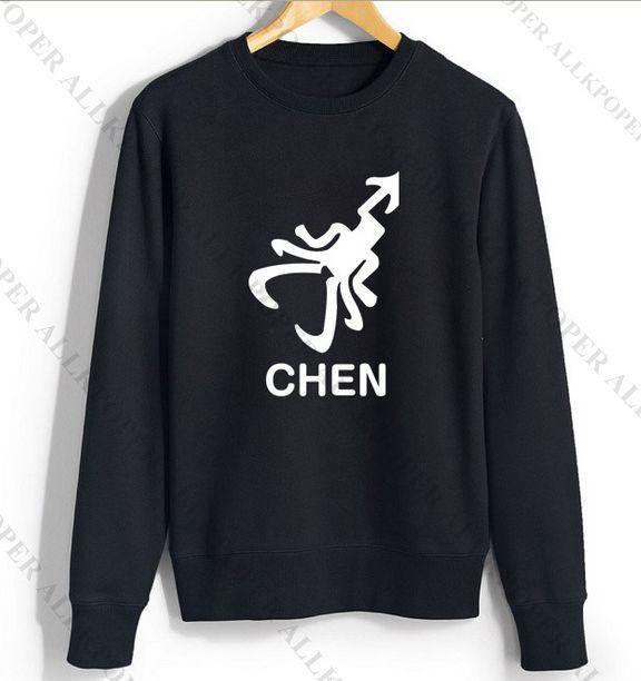 KPOP EXO Sweater 12 Members Logo Luhan Baekhyun Chanyeol Hoodie Pullover CHEN