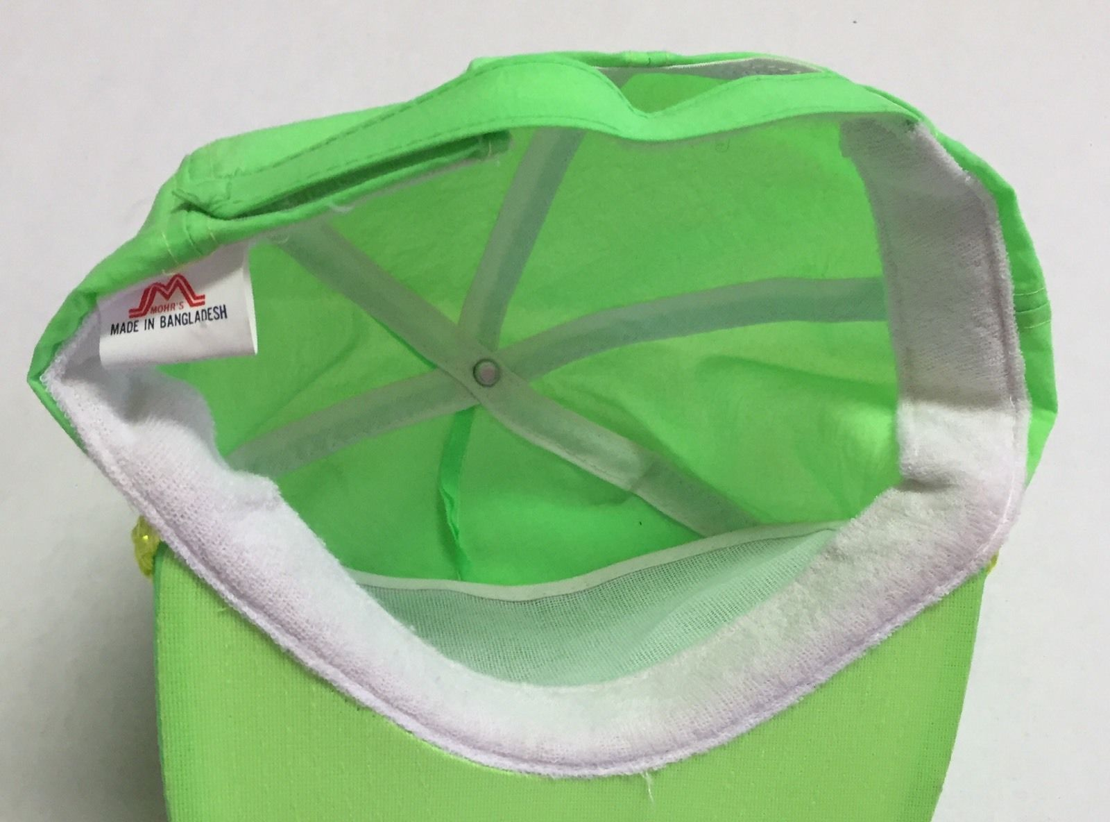 Vtg Graybar Code Hat Neon Green Fast Accurate Checkout Glendale Heights IL 90s