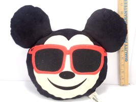 "Disney emoji plush 13"" pillow - Mickey Mouse With Sunglasses Doll Toy Ga... - $11.57"