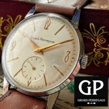 Girard-Perregaux Mannual winding Men's watch Gold Overhauled vintage used - $837.53