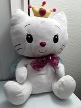 """16"""" Angel Cat Sugar Large Princess Cat Blue Satin Wings Dan Dee Stuffed Animal - $25.39"""