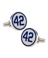 BASEBALL 42 CUFFLINKS Jackie Robinson Retired Number Baseball Blue w Gif... - $12.95