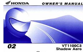 2002 Honda VT1100C3  Shadow Aero Owners Opeators Owner Manual OEM - $39.59