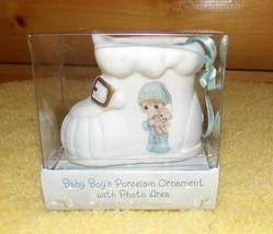 Precious Moments Baby Boy's Porcelain Ornament Decoration with Photo Area MIB - $9.89