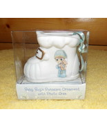 Precious Moments Baby Boy's Porcelain Ornament Decoration with Photo Are... - $9.89