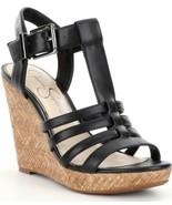 Jessica Simpson Jenaa Platform Wedge Sandals, Sizes 6-10 Black Sleek JS-... - $69.95