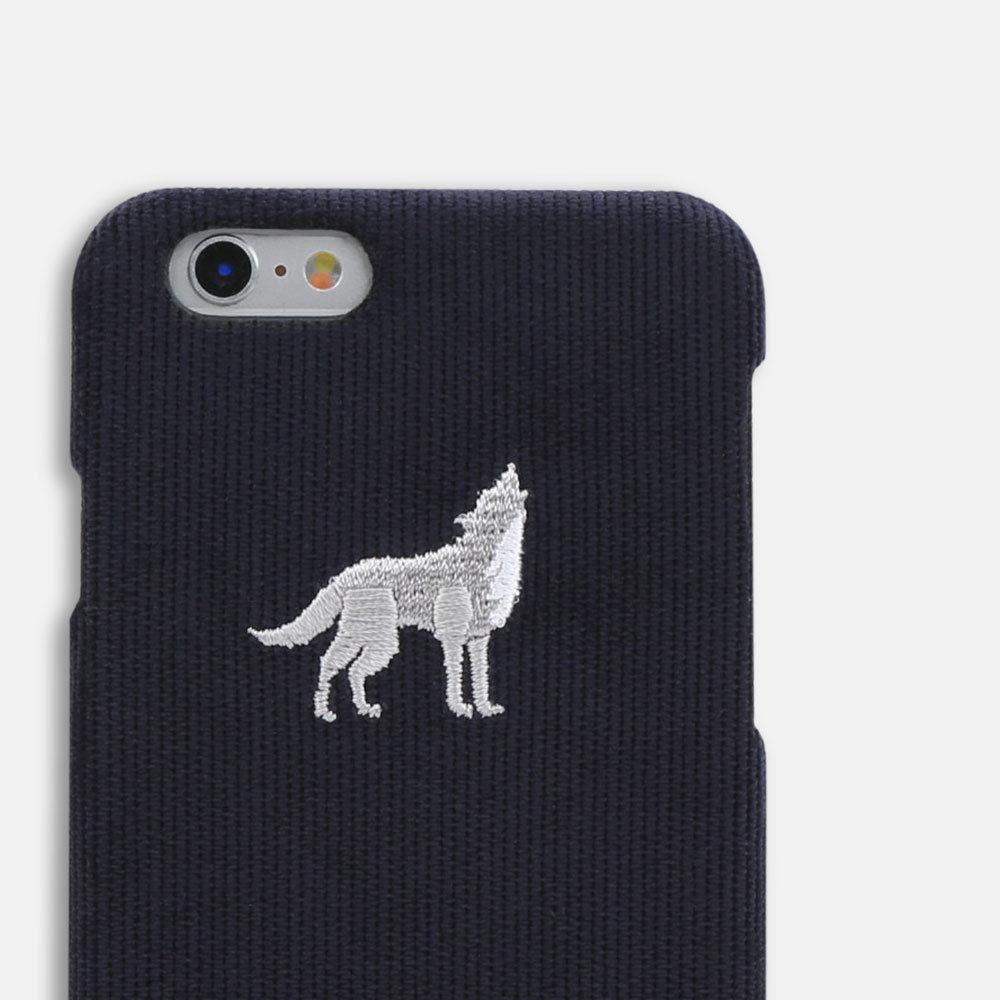 Luxury Handmade Premium Leather Corduroy Embroidery iPhone Case 6/6s/7/Plus Acc