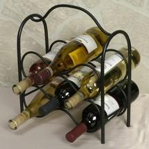 Kitchen/Bar Countertop 6 Bottle Wine Rack Organizer Black Powder Coat  B... - $69.29