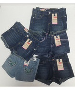 Girl's LEVI'S Denim Shorty Shorts NEW Size 4 6 6X Adjustable Waist Stret... - $9.99