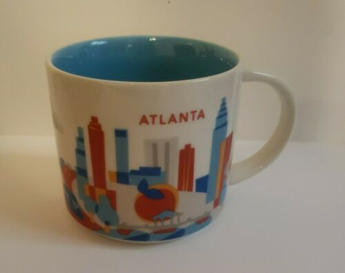Primary image for 2017 Starbucks You Are Here Collection Atlanta Georgia Coffee Mug Cup 14 Oz nice
