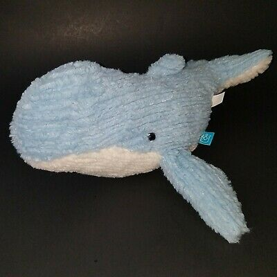 Primary image for Manhattan Toy Company Blue White Whale Plush Lovey Stuffed Animal Toy SUPER SOFT