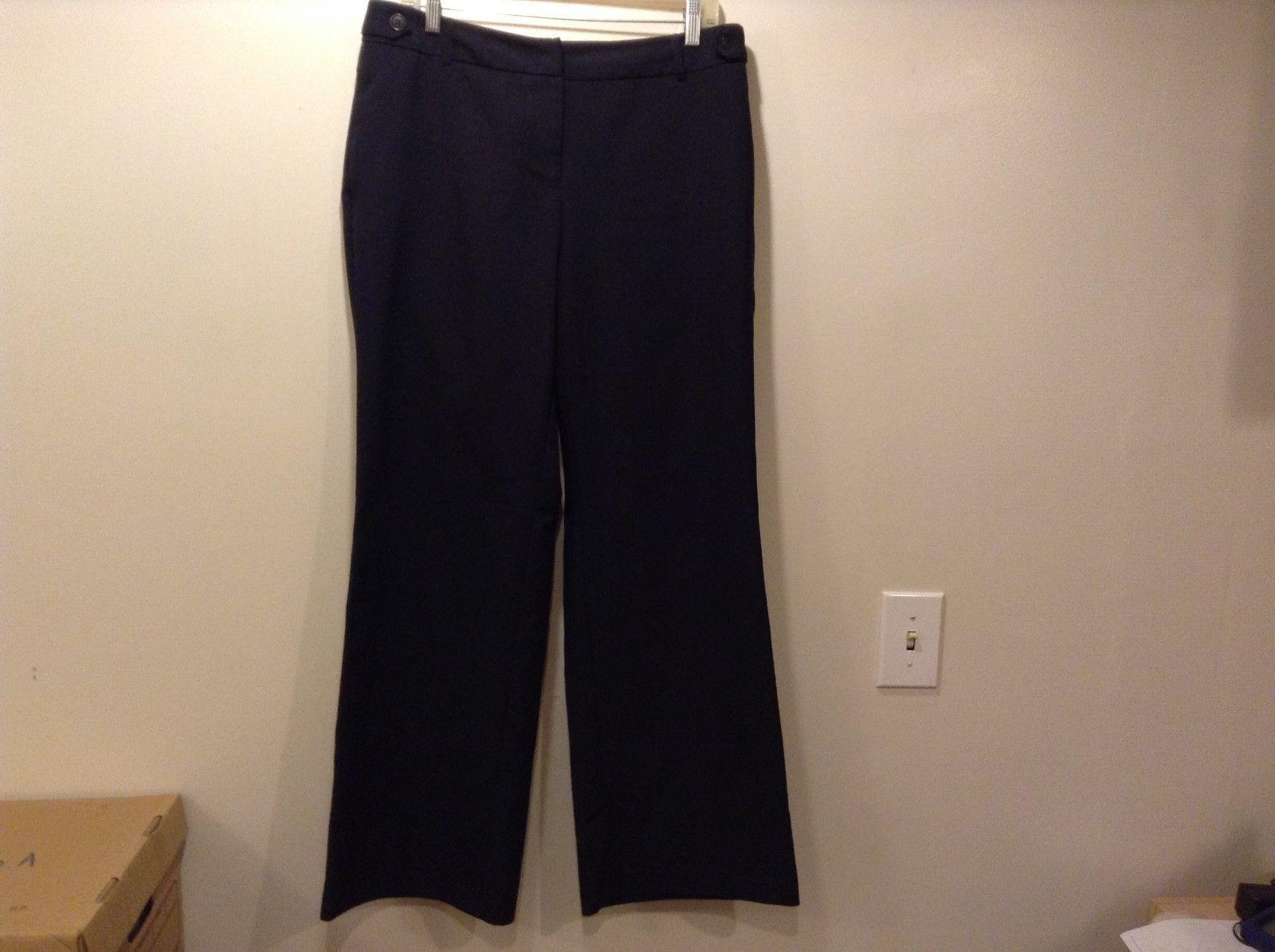 New York & Company Ladies Black Stretchy Dress Pants Sz 12