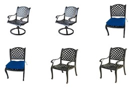7 piece patio dining set expandable table 2 swivel rockers 2 arm chairs 2 armles image 2