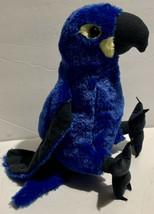 "Wild Republic Blue Parrot Macaw Plush 11"" Hyacinth Stuffed Animal Realistic Bird - $15.99"