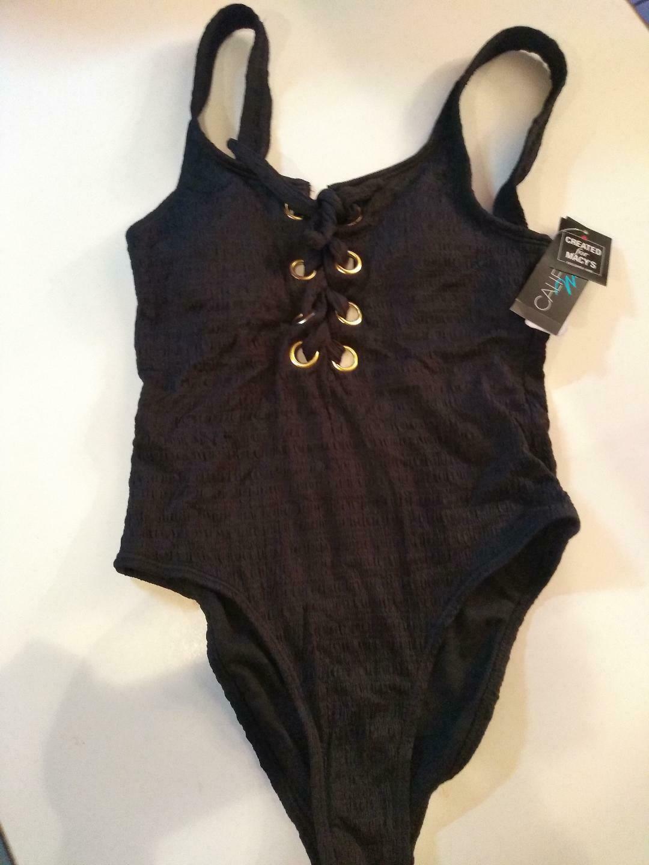 California Waves Black One Piece Swimwear Size Small