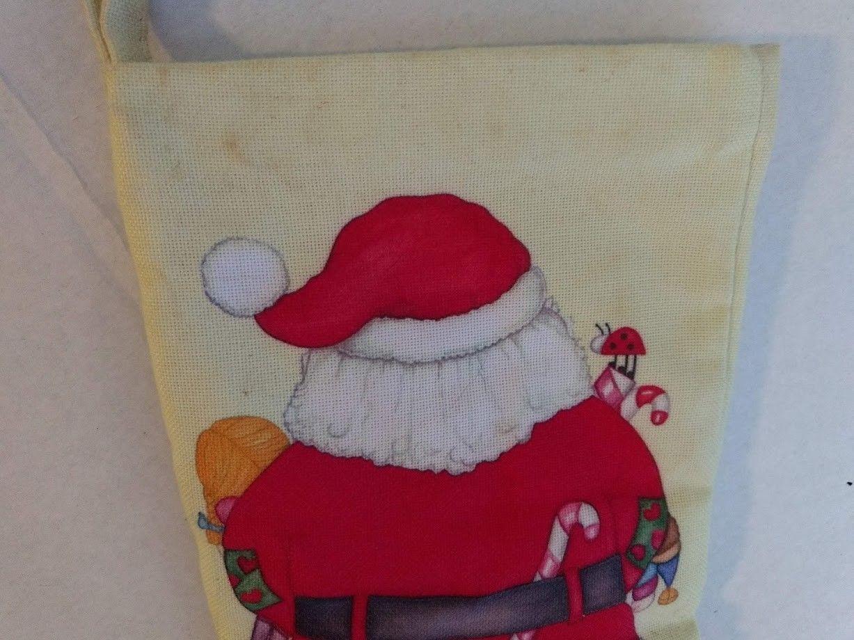 Vtg Christmas Stitched Embroidery Stocking Kit Toys Santa Good Girls Boys Dolls
