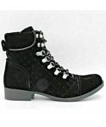 G By Guess Women Diamond Stitched Combat Boots Blush 2 Size 7.5M Black F... - $14.76