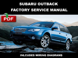 ULTIMATE SUBARU OUTBACK 2005 2006 2007 2008 2009 OEM SERVICE REPAIR SHOP... - $14.95