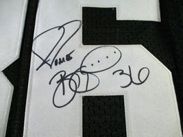 JEROME BETTIS / AUTOGRAPHED PITTSBURGH STEELERS THROWBACK JERSEY / BUS HOLO image 4