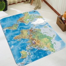 3D Blue World Map 058 Non Slip Rug Mat Room Mat Quality Elegant Photo Carpet AU - $65.41+