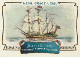 2011 Topps Allen and Ginter Floating Fortresses #FF3 Henri Grace a Dieu  - $0.50