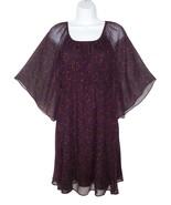 Alice + Olivia S Small Silk Chiffon Dot Dress Flutter Sleeves - $35.99