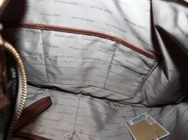 Michael Kors NWT Brown Leather Signature Lauryn Shoulder Bag Purse image 5