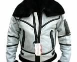 Men's RAF B3 Bomber Flight Aviator Shearling Sheep Skin Leather Jacket Coat New - £96.16 GBP