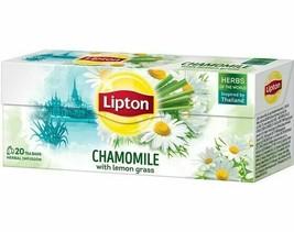 80 x Lipton Tea Chamomile Lemon Grass = 80 Tea/Infusion (4 Boxes x 20 Tea Bags) - $20.52