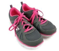 Skechers Women Lite Weight Athletic Sneaker Shoe Size 7.5 M Gray Pink Co... - $21.77