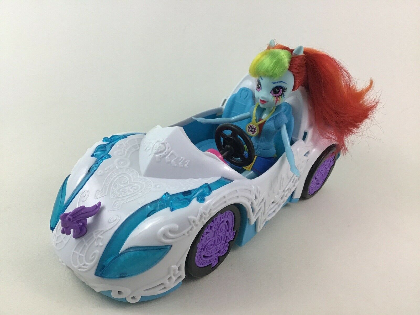 Primary image for My Little Pony Equestrian Girls Doll Rainbow Dash and Car 2pc Lot Hasbro