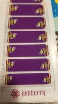 Jamberry Nail Wraps - Official NFL MN Vikings - 1/2 Sheet - New/Rare (Retired) - $17.00