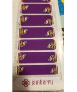 Jamberry Nail Wraps - Official NFL MN Vikings - 1/2 Sheet - New/Rare (Re... - $17.00