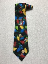 Looney Tunes Mania Mens Christmas Neck Tie Bugs Bunny Christmas Lights V... - $15.83