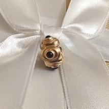 RARE Genuine Authentic Pandora 14k Gold Black Onyx Hypnotize Clip Charm ... - $499.00