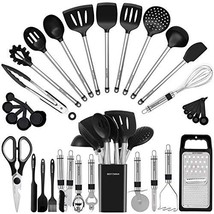 Kitchen Utensil Set-Silicone Cooking Utensils-33 Kitchen Gadgets & Spoons - $58.33